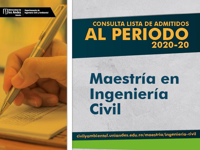 Admitidos a la Maestría en Ingeniería Civil 2020-20