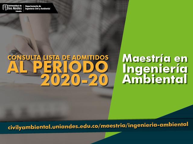 Admitidos a la Maestría en Ingeniería Ambiental 2020-20