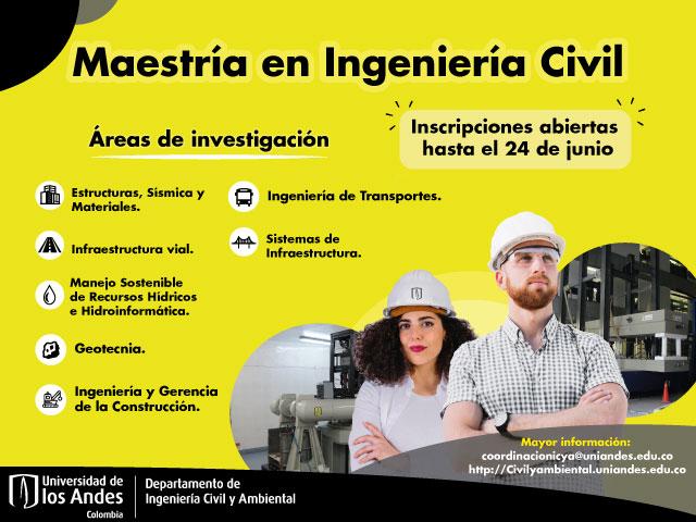 Inscripciones abiertas Maestría en Ingeniería Civil