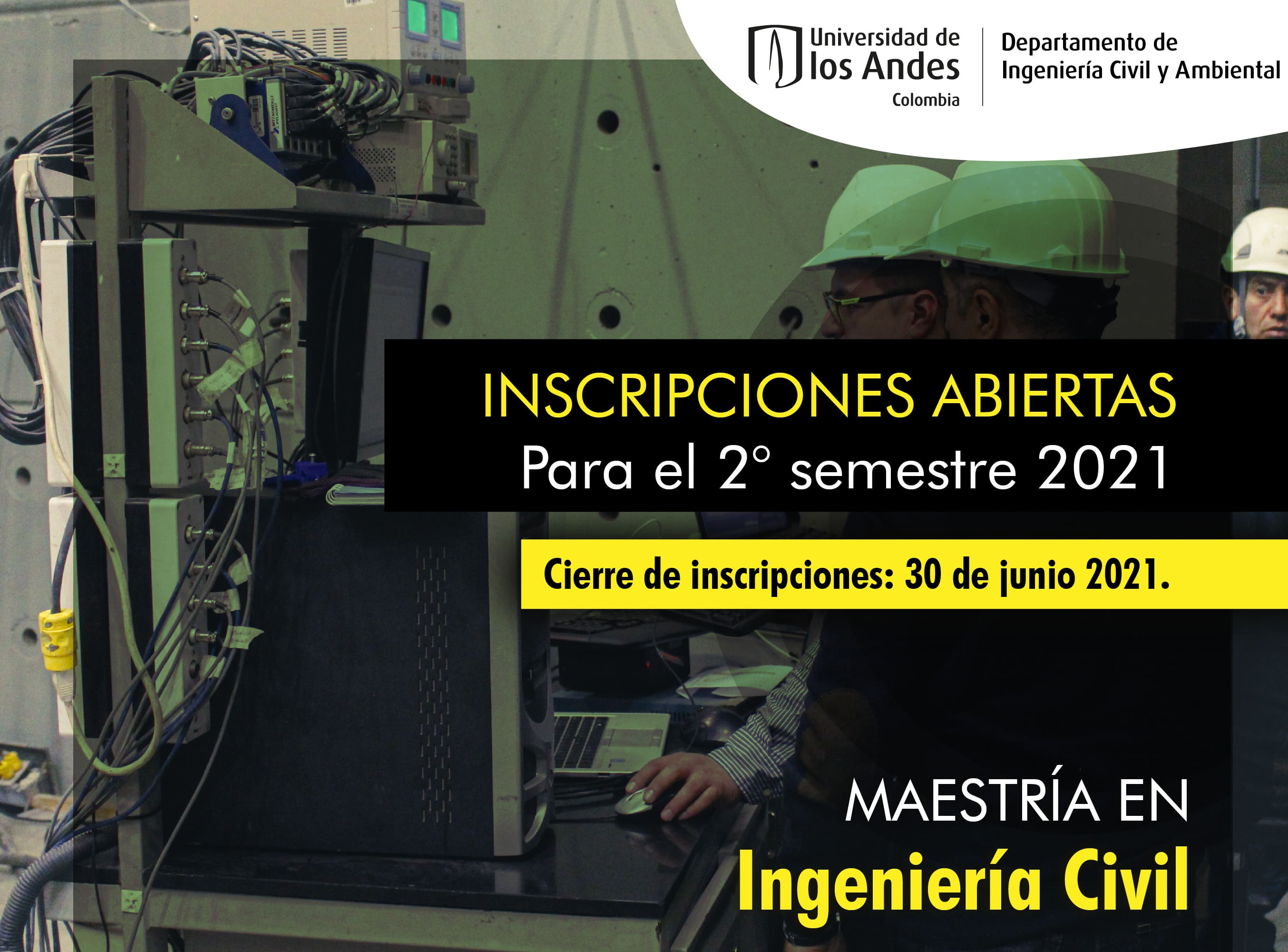 Inscripciones maestría Ingeniería Civil