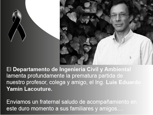 Fallecimiento Prof. luis Eduardo Yamín
